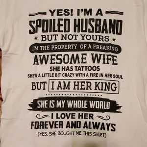 Graphic T Shirt Size Small Spoiled Husband NEW